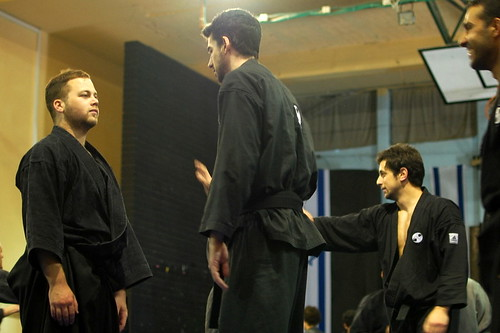 Stare down before Ninjutsu sparring