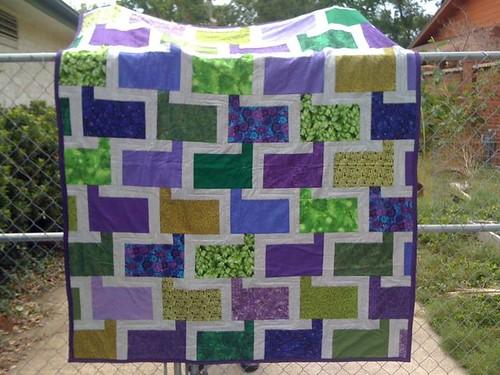 Housewarming quilt for RoseAnna & Brandon