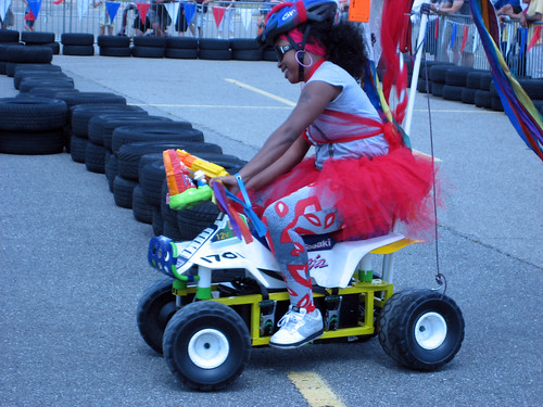One of the more colorful Power Wheel contestants