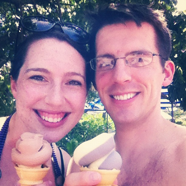 Ice cream on Castaway Cay. Just the two of us! #disneydream
