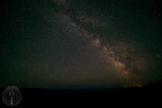 Milky Way above Clarkia