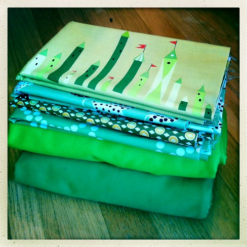 My fabrics for the Denyse Schmidt class