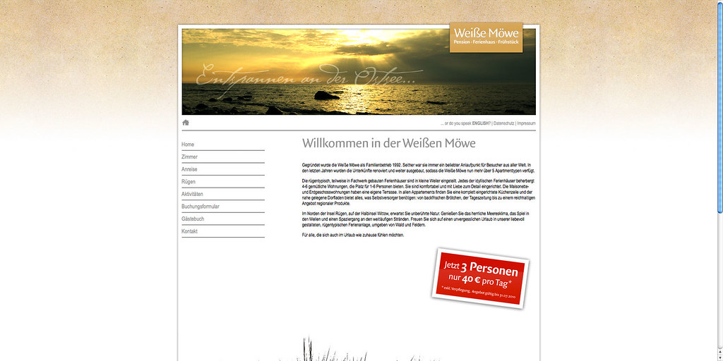 Home page – German