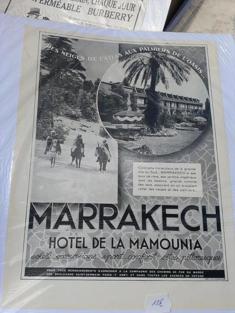 vintage Hotel de la Mamounia Marrakech print