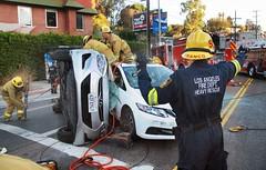 LAFD Frees Man Trapped Beneath Car on Barham Boulevard