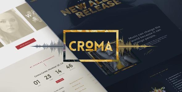 Croma v1.1 – Responsive Music WordPress Theme