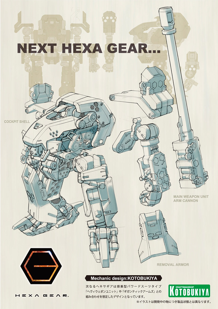 破壞也好創造也好,全由你決定! 壽屋組裝模型新系列「HEXA GEAR ヘキサギア」開發中
