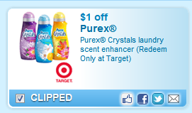 Purex Crystals Laundry Scent Enhancer (redeem Only At Target)  Coupon