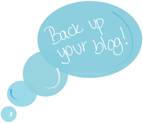 Have you backed up your blog recently?