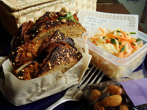Blackened Chicken On Multigrain Sandwich Bento