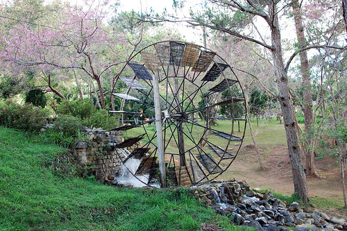 Water wheel at Suoi Vang Lake, Da Lat, Vietnam