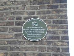 Photo of Harry Hartstonge and Lady Hartstonge green plaque