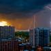 Lightning Over Lake Michigan by HylerC Photography