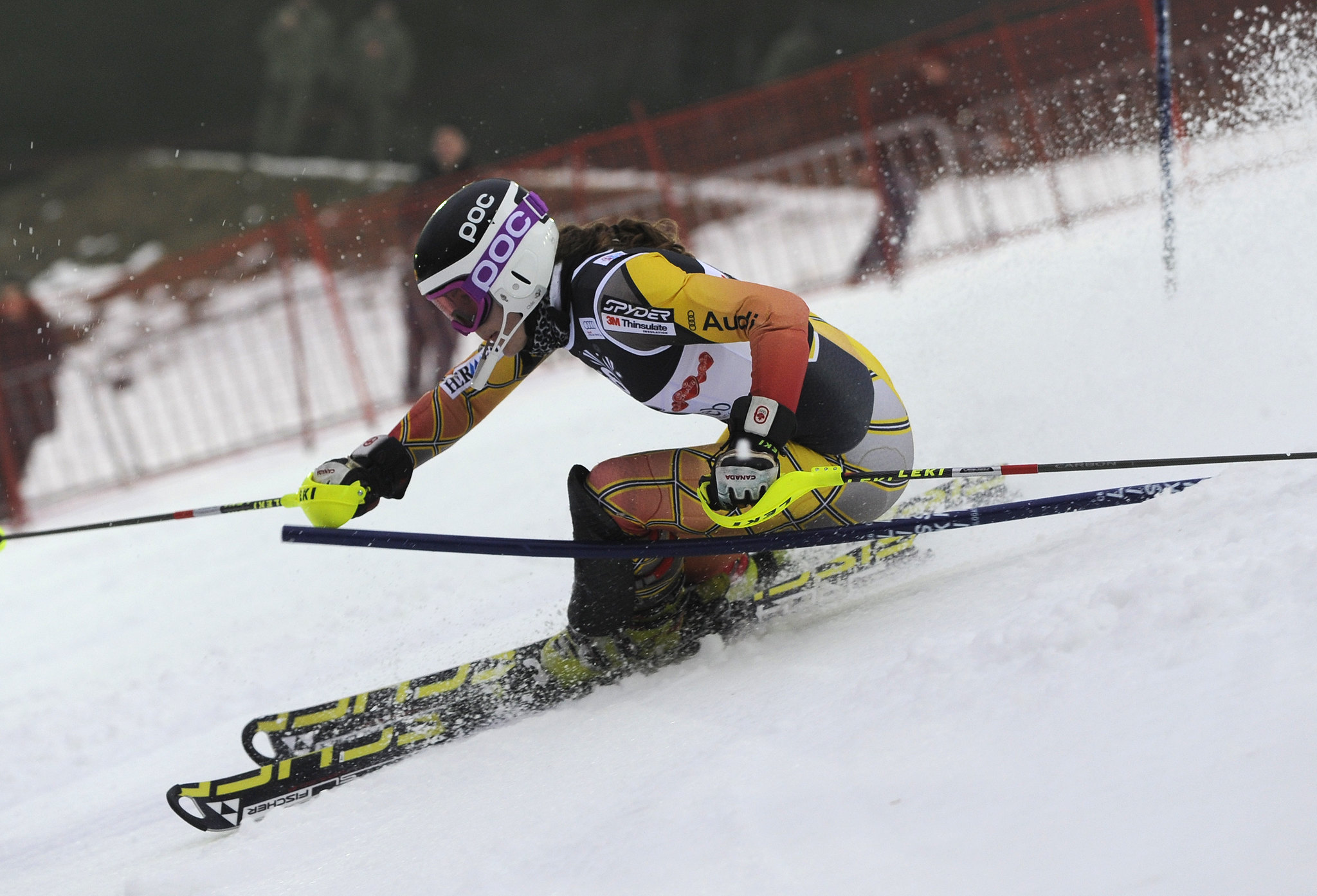 Elli Terwiel at the World Cup slalom in Zagreb.