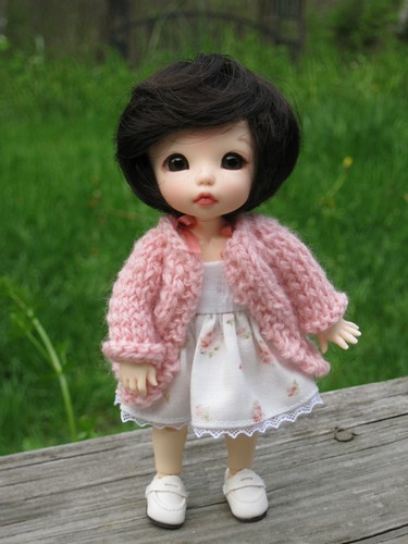 Ante in pink sweater by elizabeth's*whimsies