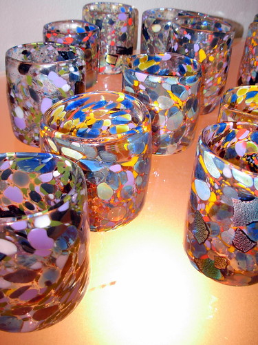 Glass Tumblers Brimming with Color from Aaron Wiener of the Water Gallery, Lansdale, PA