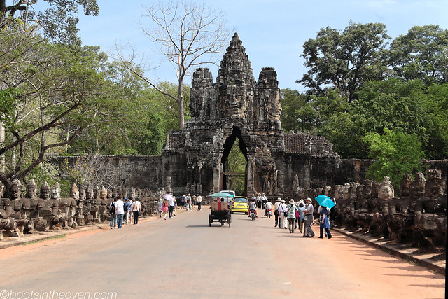 Approach to Angkor Thom
