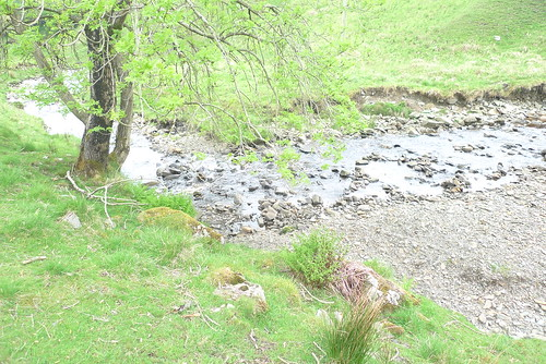 Not actually where I nearly fell in, but it's a drop to a river, so close enough.