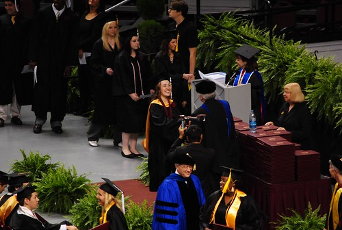 Hannah receiving her diploma