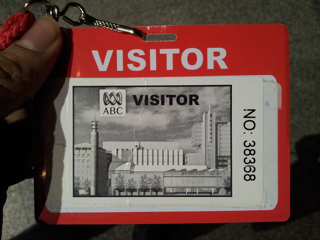 ABC Radio guest / visitor pass