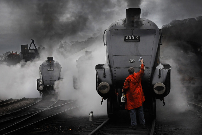 A4 Steam Locomotives and its headlight