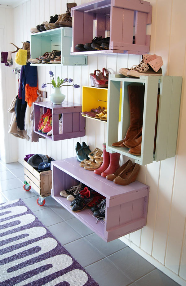 DIY Hanging Type Shoe Rack
