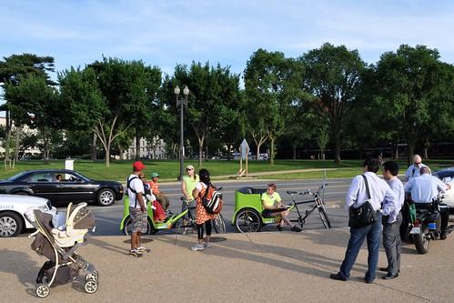 Pedicab Getting a Ticket