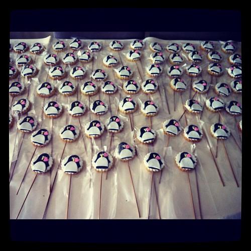 Penguenli nişan kurabiyeleri by l'atelier de ronitte