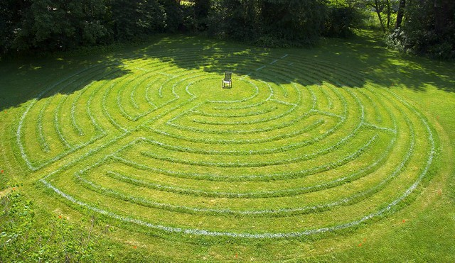 Turf Labyrinth