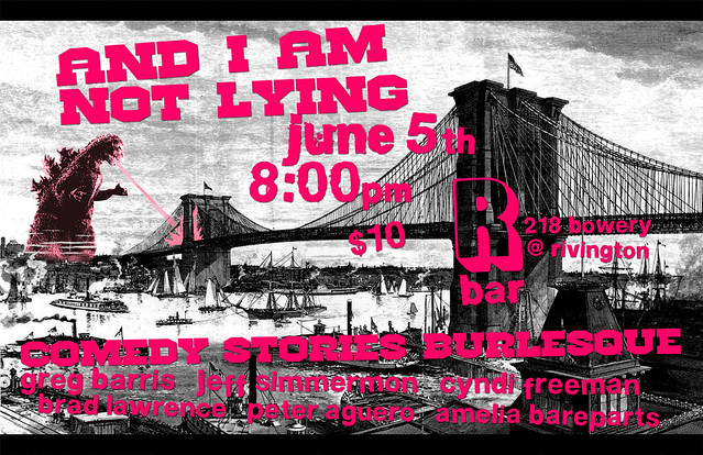And I Am Not Lying at R Bar 6.5.2012