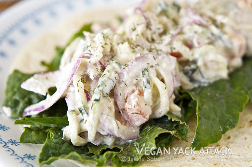 This Creamy Greek Summer Salad makes for a delectably simple side dish, filled with fresh ingredients, that is great for summer parties!