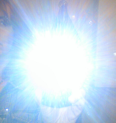 Blinding flash!