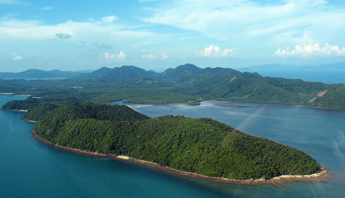 Koh Yao Yai from the air