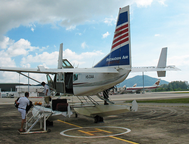 Loading a seaplane at Phuket Airport