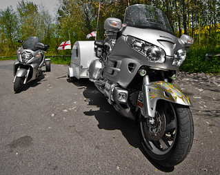 Honda's Goldwing and Silver Wing.