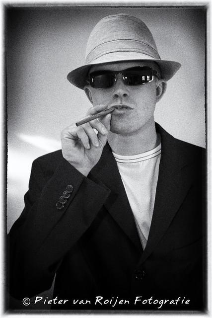 Smoke em if you got em. Portrait in Film-Noir style II