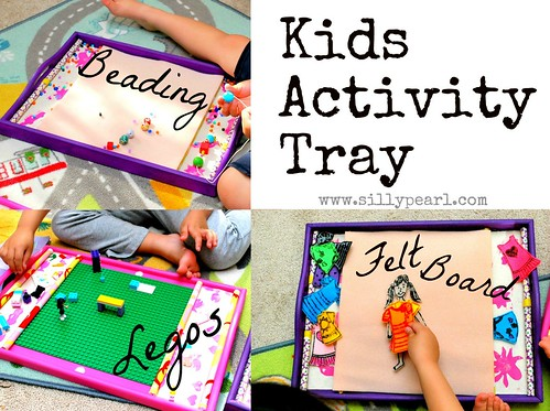 The Silly Pearl: Kids Activity Tray for Legos, Beading, etc