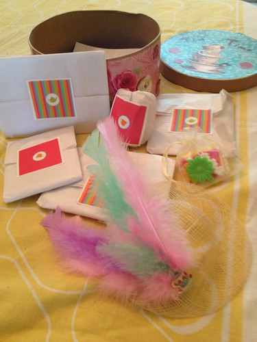 cute feather hat and other goodies