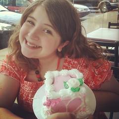 Happy birthday ice cream cake at Baskin Robbins!