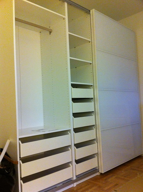 IKEA Pax Wardrobe with Drawers  White  Flickr  Photo Sharing!