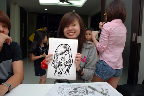 caricature live sketching for a birthday party - 11