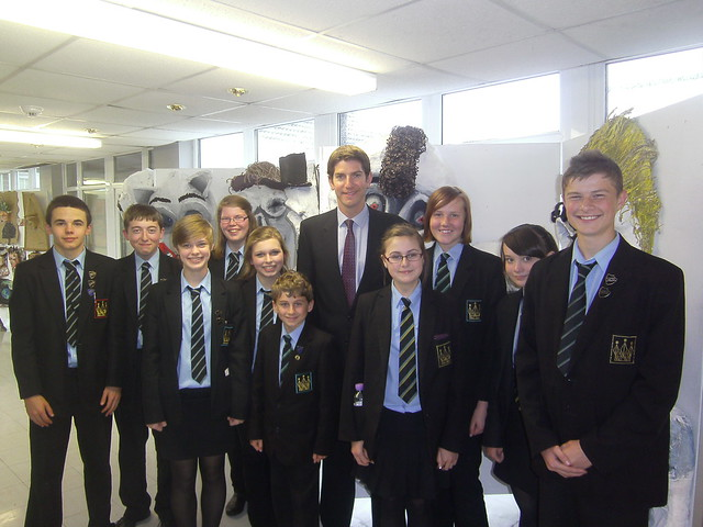 Visiting the Kingswinford School to celebrate Academy status -- CLICK TO ENLARGE
