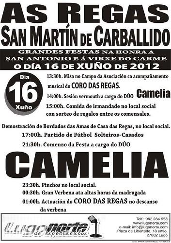 As Regas 2012 - Festas de Santo ANtón en San Martín de Carballido