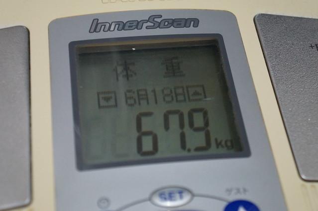 ダイエット8日目体重