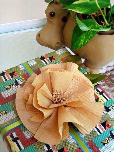 Coffee Filter Flower Gift Topper Tutorial