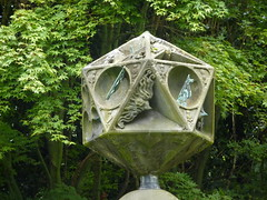 Close up of the polyhedral sundial