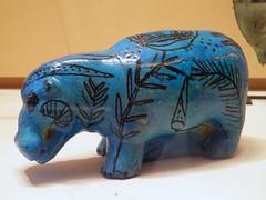 Hippopotamus figurine, Second Intermediate Period, Seventeenth Dynasty, 1650-1550 BCE, Egypt, Thebes, Dra Abu el-Naga, Louvre Museum