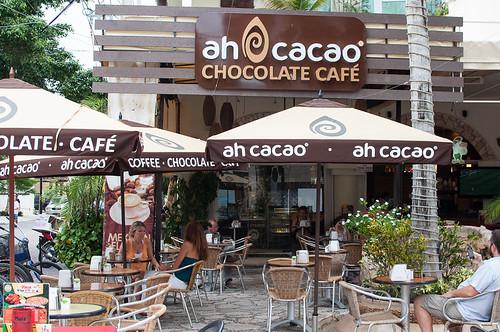 Chocolate maya en Ah Cacao en la 5ª Avenida de Playa del Carmen