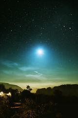 [フリー画像素材] 自然風景, 空, 夜空, 月, 星, 風景 - デンマーク ID:201207102000