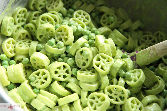 Creamy Fettuccine With Peas And Basil Recipe — Dishmaps